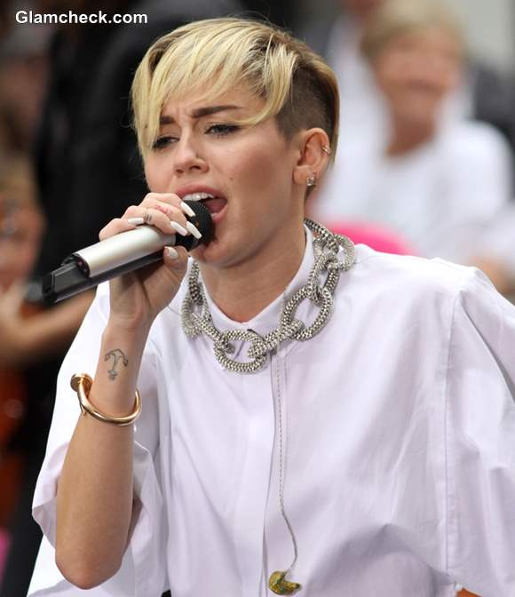 Miley Cyrus in All-white Shorts on the Today Show