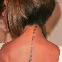 Neck Tattoo Victoria Beckham