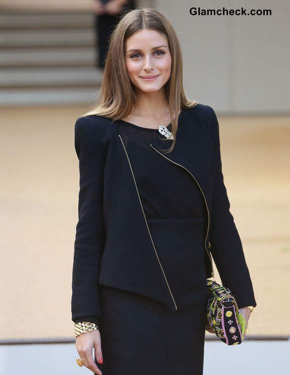Olivia Palermo at Burberry Prorsum show LFW SS 14