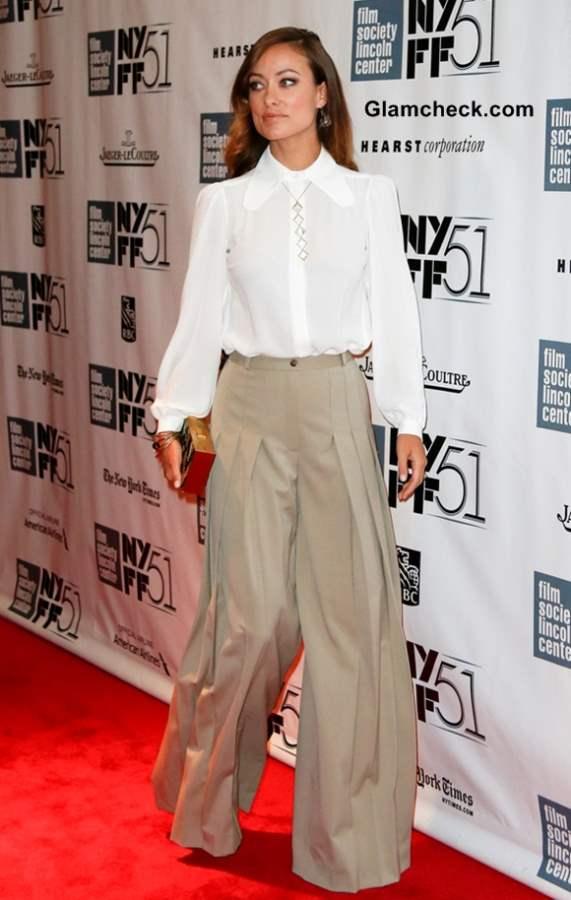 Olivia Wilde Goes Retro in Palazzo Pants 2013