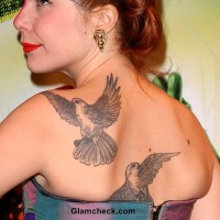 Paloma Faith Back Tattoo Dove