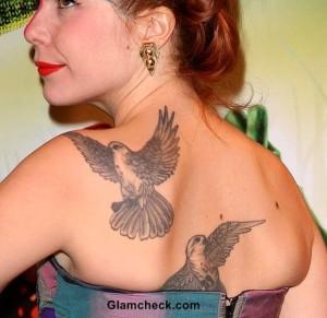 Paloma Faith's Statement Dove Tattoo