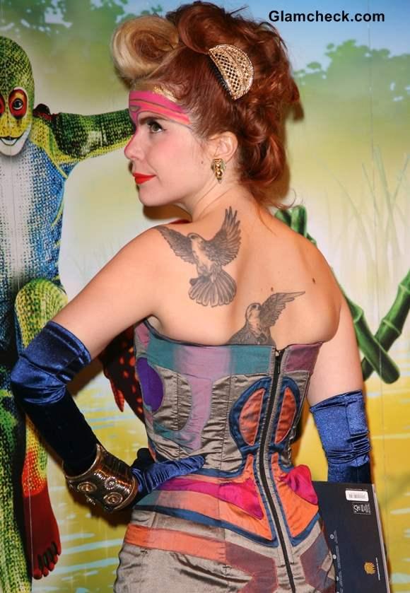Paloma Faith Back Tattoos