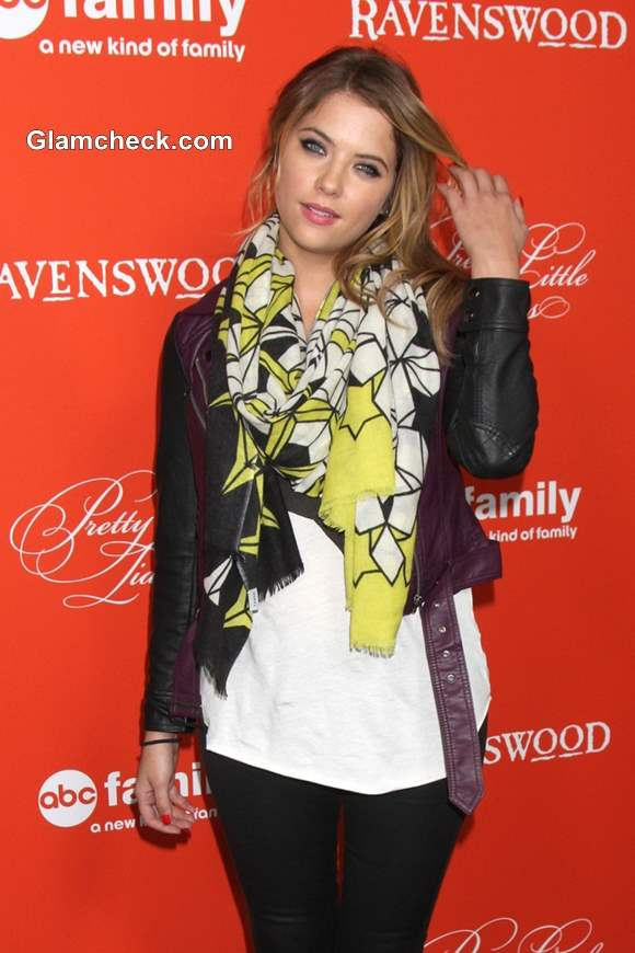 Printed Scarf To Brighten Up Your Look- Ashley Benson