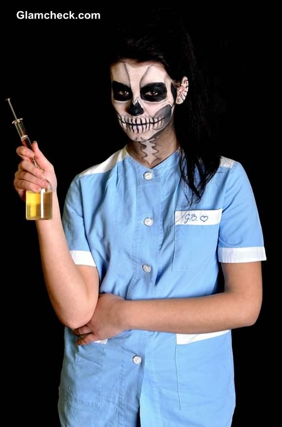 Scary Nurse Makeup for Halloween