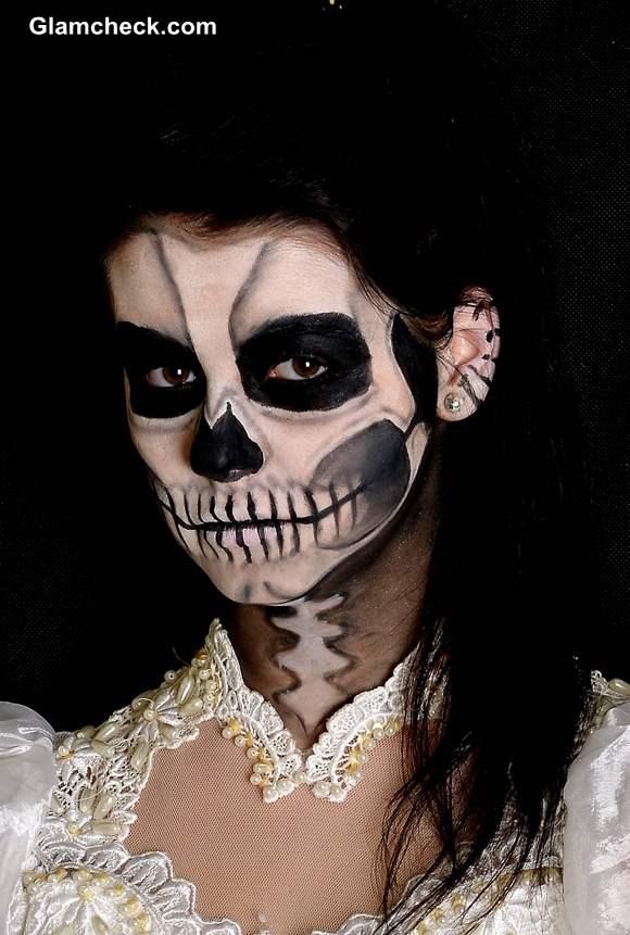 Scary Skull Face Makeup Tutorial Halloween