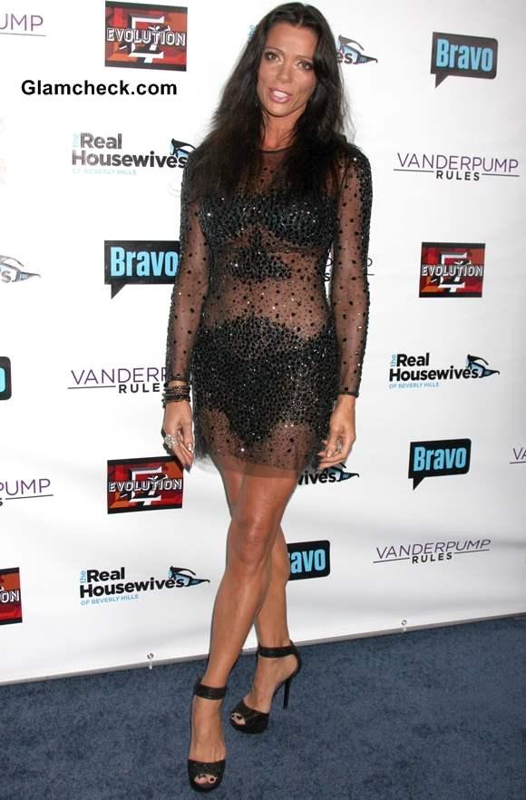 Sheer black mini dress Carlton Gebbia