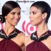 Side-swept Bun Hairstyle DIY - Roselyn Sanchez