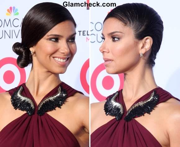 Side-swept Bun Hairstyle DIY - Roselyn Sanchez