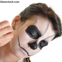 Skull Face Makeup for Halloween