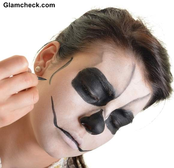 Skull Face Makeup for Halloween