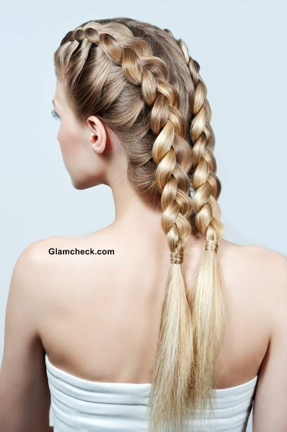 Two Row Dutch Braids Hairstyle