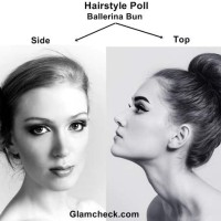 2 ways to sport Ballerina Bun Side Vs Top