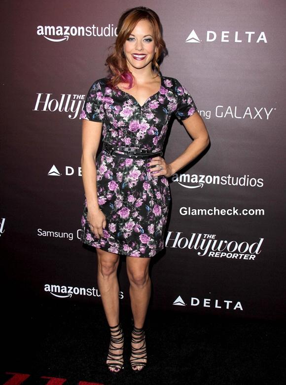 Amy Paffrath in Strappy Black Stilettos at Gala Event