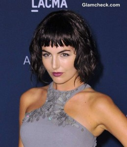 Camilla Belle's Choppy Bangs and Messy Bob Hairstyle