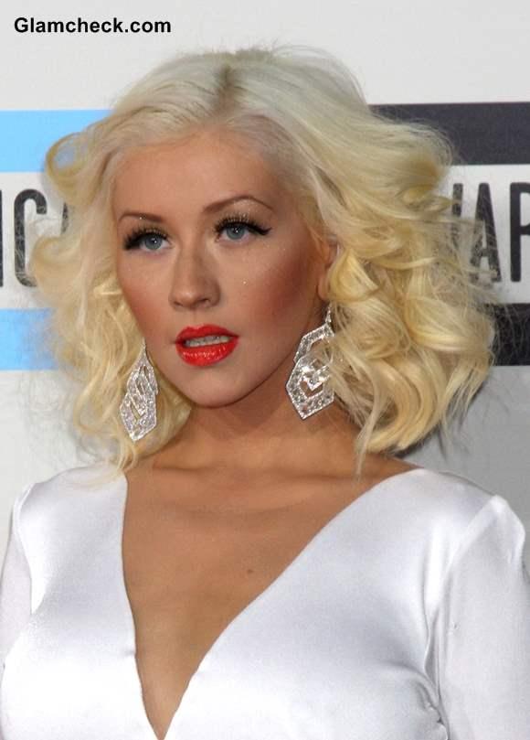 Christina Aguilera Blonde Hair 2013 AMA