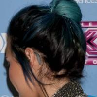 Demi Lovato Blue Hair Color 2013