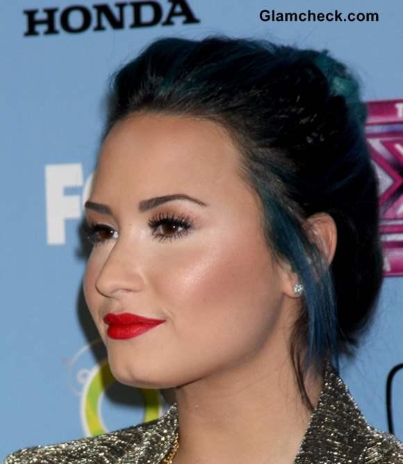 Demi Lovato Red Lips