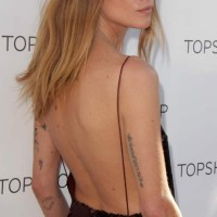 Erin Wasson in Backless Jumpsuit at Topshop Holiday Event 2013