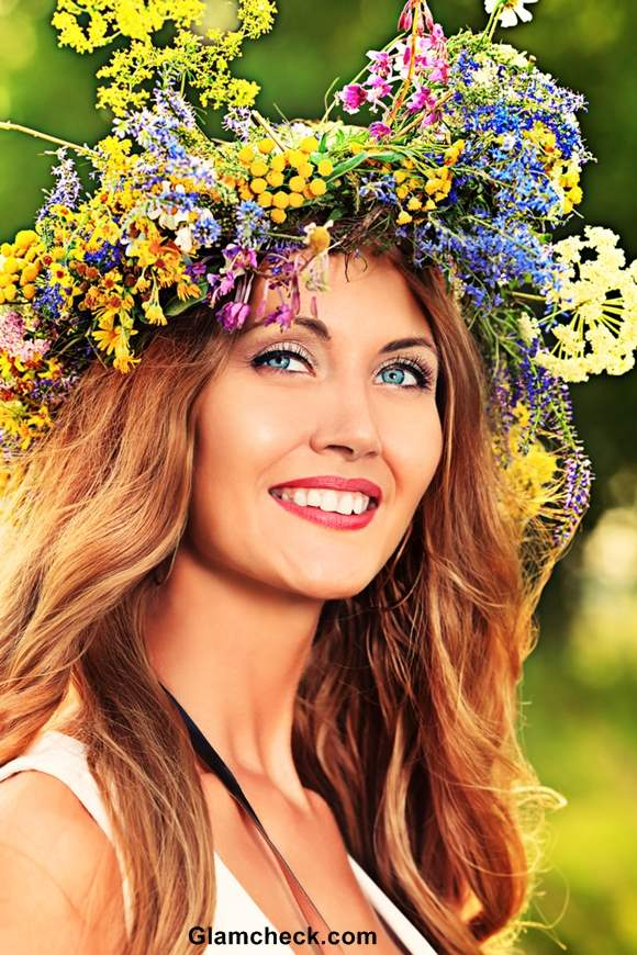 Flower Wreath Hairstyles for Thanksgiving