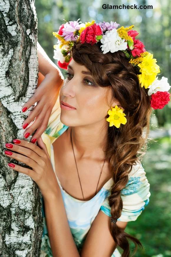 Hairstyle for Thanksgiving Floral Wreaths