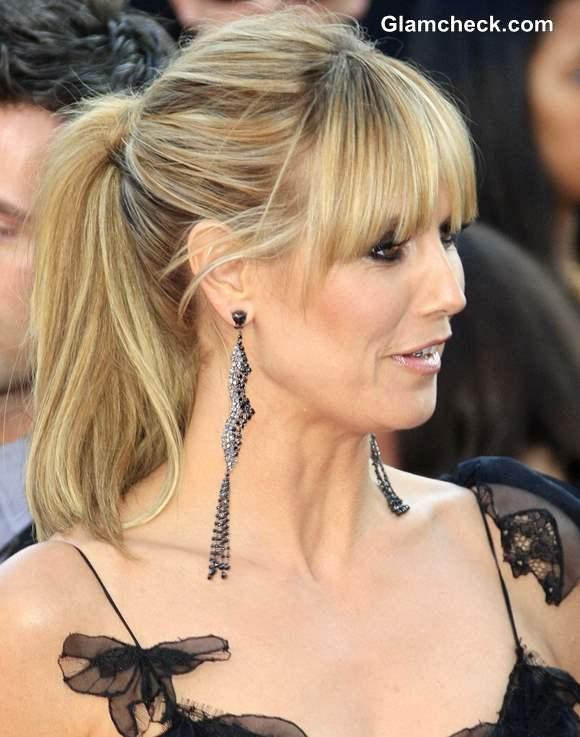 Heidi Klum Long earrings at AMA 2013