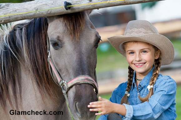 Little Girls Fashion Cowgirl Look For Thanksgiving