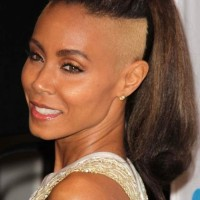 Jada Pinkett Smith Sports Mohawk Ponytail