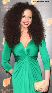 Natalie Gumede Shows off Kinky Hair Curls at RTS Awards 2013