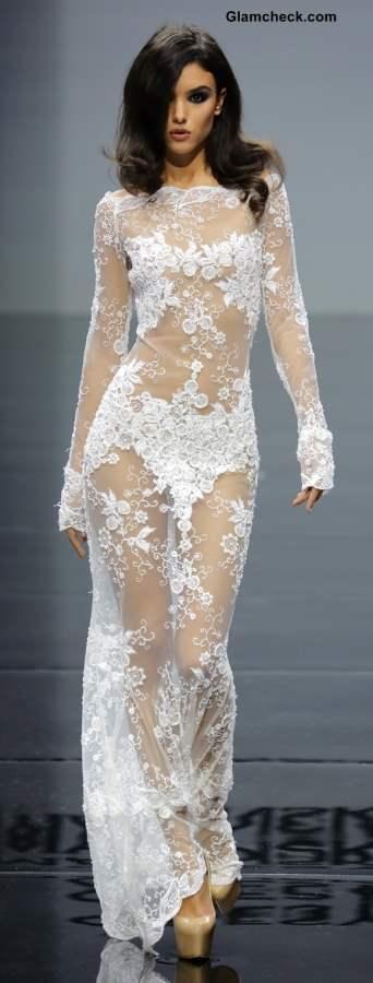 Lace Gown by Olesya Malinskaya
