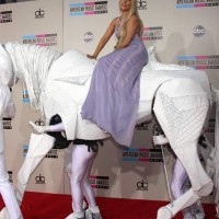 Lady Gaga Horses Around at American Music Awards 2013
