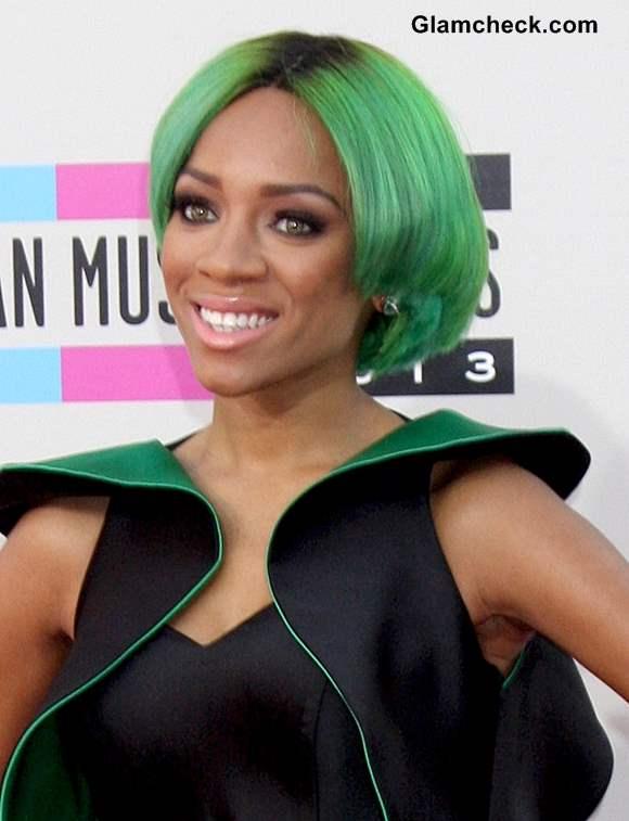 Lil Mama Green Hair 2013 AMA