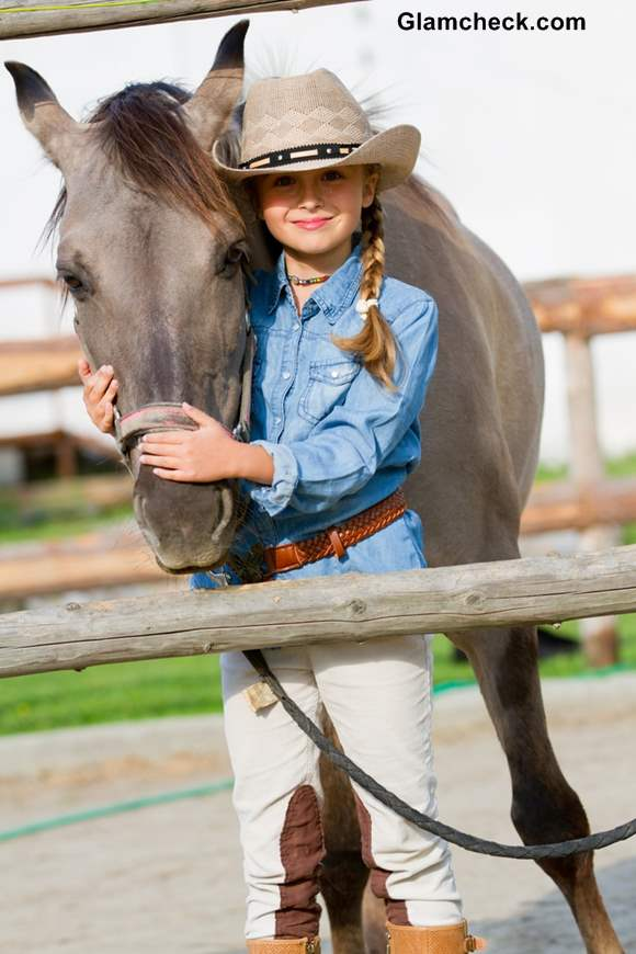 Little Girls Fashion - Cowgirl look for Thanksgiving