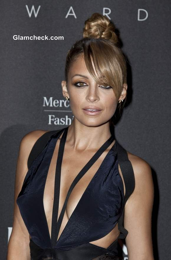 Nicole richie bob with sexy side swept bangs