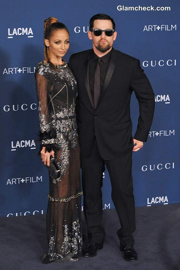 Nicole Richie and Joel Madden in Dolce and Gabbana at LACMA Gala 2013