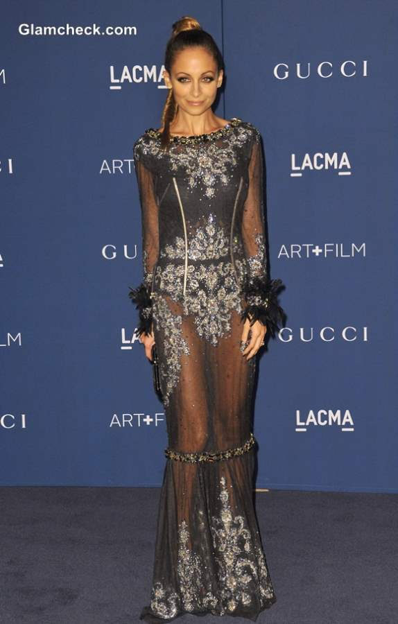 Nicole Richie in Dolce and Gabbana Sheer Gown at LACMA Gala