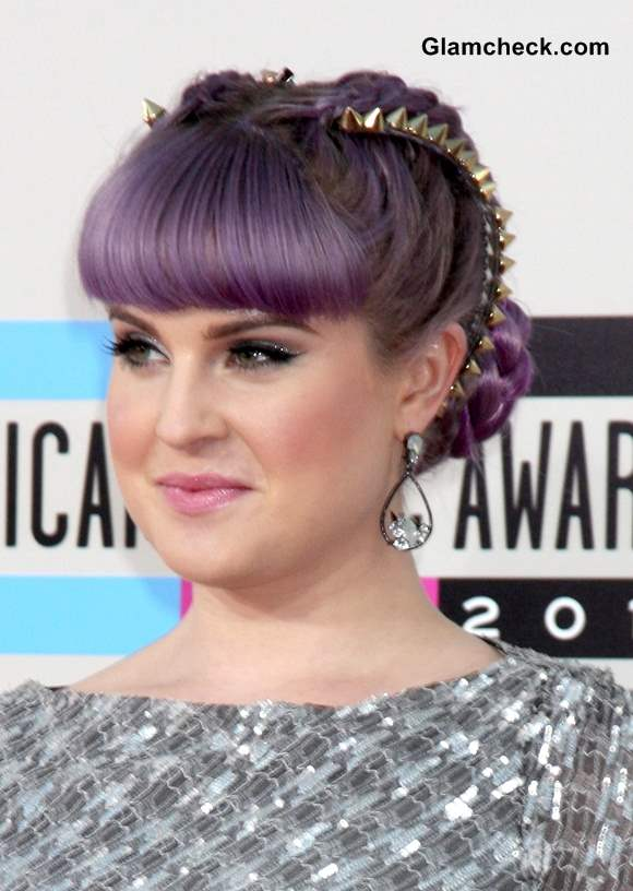 Purlpe lilac hair color Kelly Osbourne