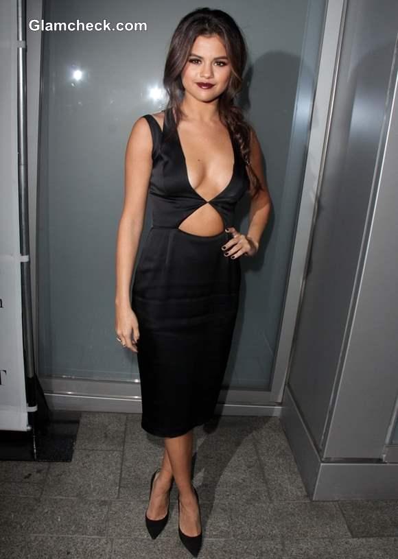Selena Gomez in Cushnie et Ochs cut-out dress at Flaunt Magazine Party 2013