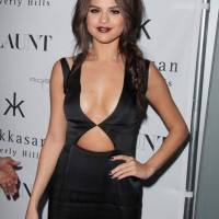 Selena Gomez in cut-out dress at Flaunt Magazine Party 2013