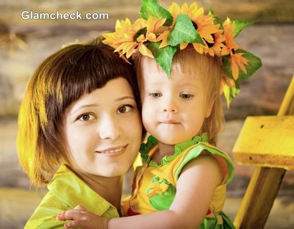 Thanksgiving Day Hairstyles for Little Girls – Sunflower Wreath