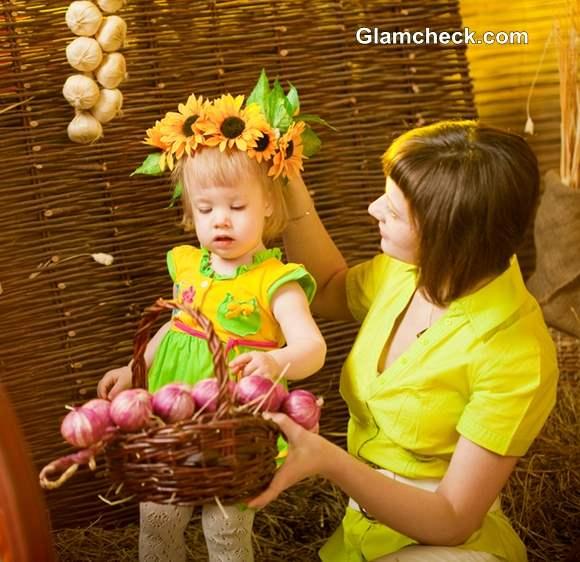 Thanksgiving Hairstyles for Little Girls – Sunflower Wreath
