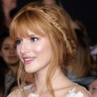 Bella Thorne at The Hunger Games in a Girly Bun and Braid