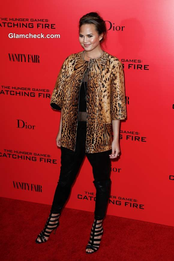 Chrissy Teigen at The Hunger Games Catching Fire special screening  2013