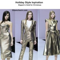 Christmas Dressing Shimmering Gold Outfits