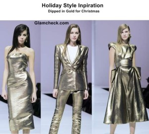 Golden Dresses for Christmas
