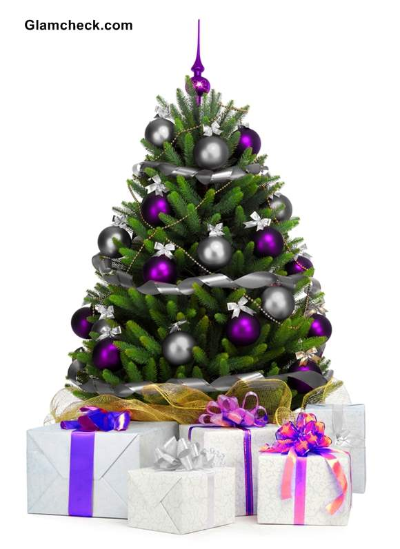 Real Decorated Christmas Tree