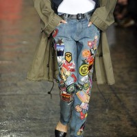 Colorful Patchwork Denim Jeans DKNY Spring 2014
