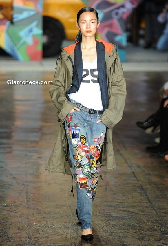 Colorful Patchwork Denims DKNY Spring 2014