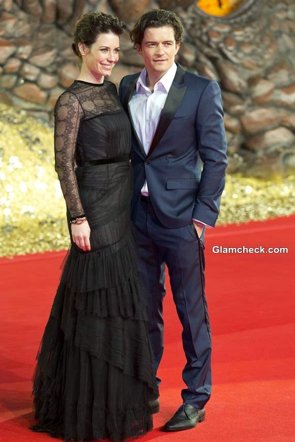 Evangeline Lilly Orlando Bloom at The Hobbit- The Desolation of Smaug German Premiere