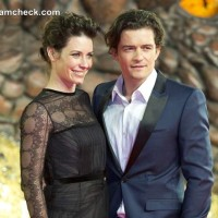 Evangeline Lilly and Orlando Bloom at The Hobbit- The Desolation of Smaug German Premiere